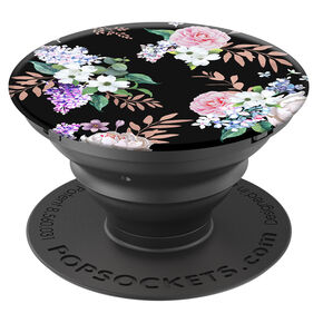 PopSockets Swappable PopGrip - Black Floral,