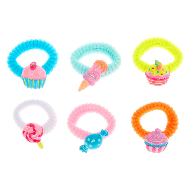 Claire's Club Sweet Treat Hair Bobbles - 6 Pack,