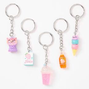 Best Friends Glittery Sweet Treats Keychains - 5 Pack,