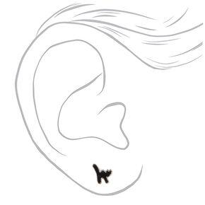 Clous d'oreilles créatures effrayantes couleur argentée - Lot de 3,