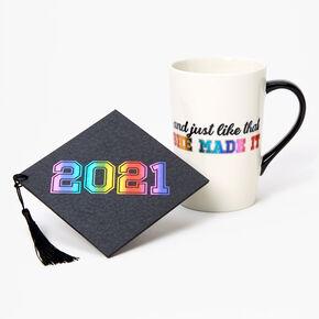 Ceramic 2021 Graduation Mug - Rainbow,