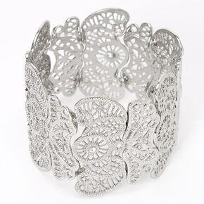 Silver Filigree Mega Stretch Bracelet,