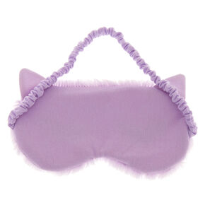 Lilac Cat Ear Sleeping Mask,