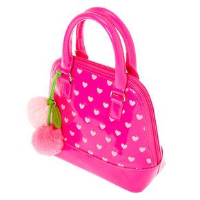 Claire's Club Hearts Handbag - Pink,