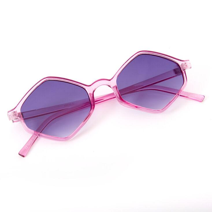 Hexagon Sunglasses - Purple,