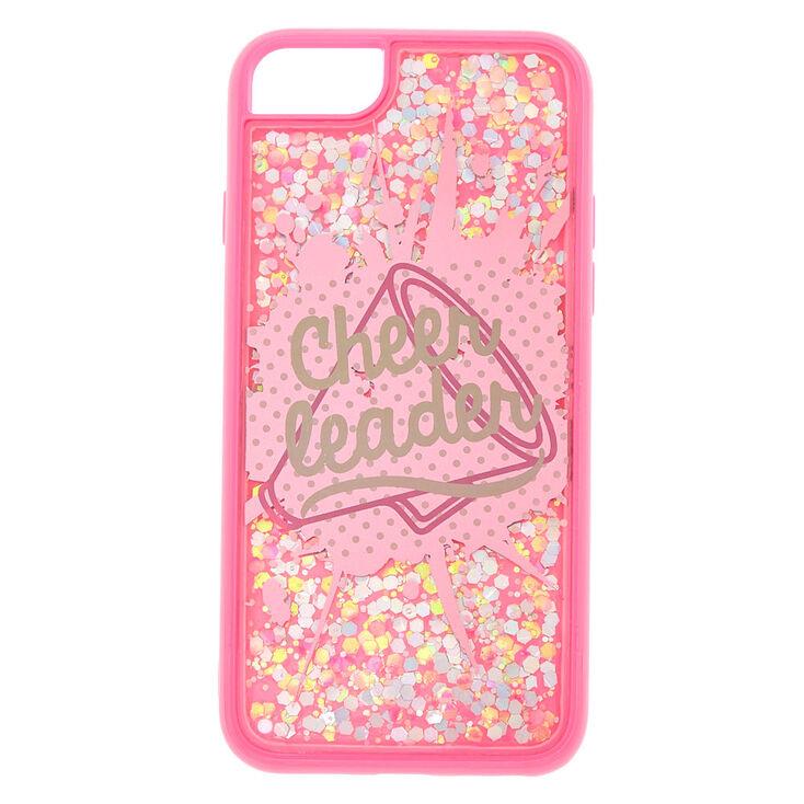 best service c2d4a b3d92 Pink Cheerleader Glitter Phone Case - Fits iPhone 6/7/8