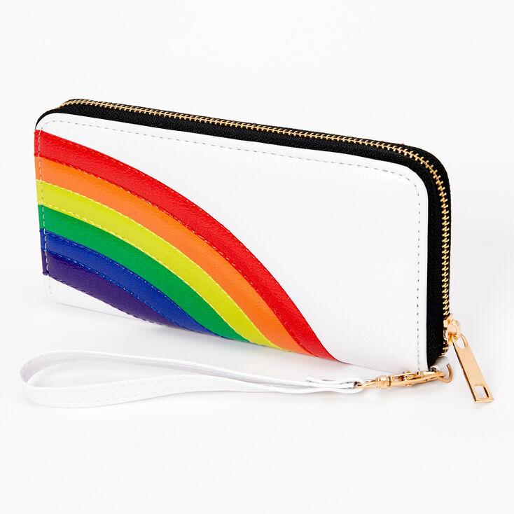 Rainbow Wristlet - White,