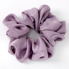 Giant Satin Hair Scrunchie - Mauve,