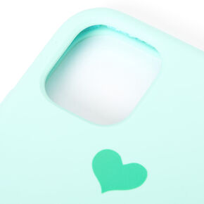 Teal Heart Phone Case - Fits iPhone 11,