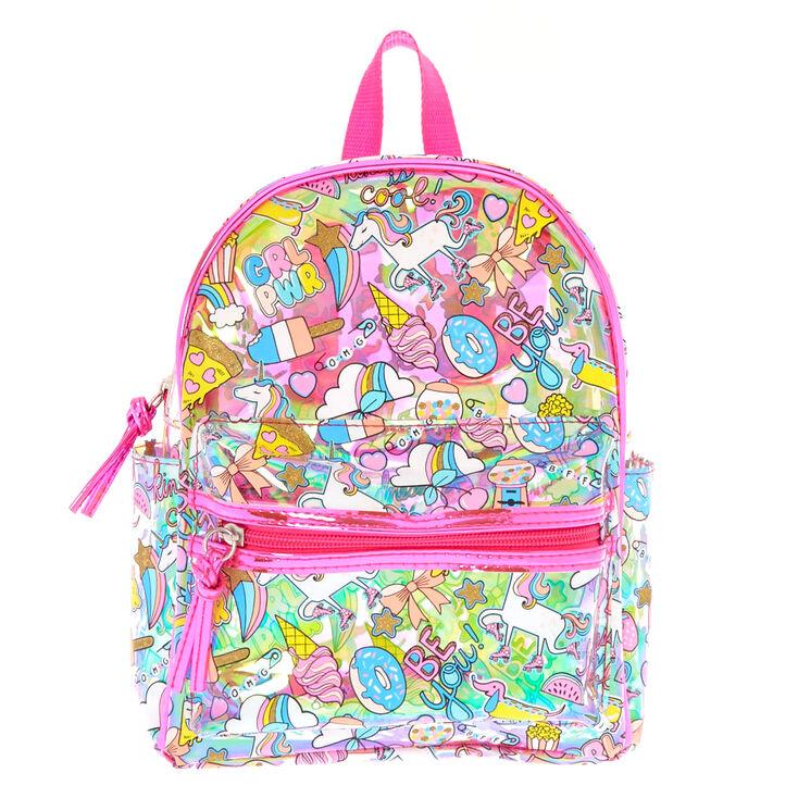 4b8c1eeae8 Unicorn Fun Fair Holographic Translucent Backpack