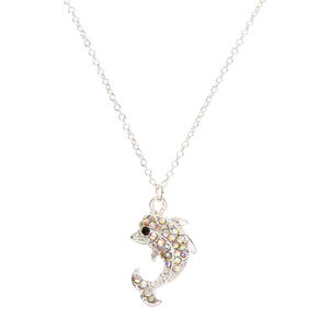 Crystal Dolphin Pendant Necklace,
