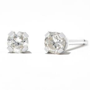Round Diamond Stud Earrings 1/10 ct tw 14kt White Gold,