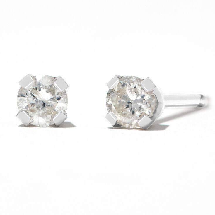 Round Diamond Stud Earrings 1/10 ct. tw. 14kt White Gold,