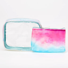 Hey Pretty Holographic 2-in-1 Makeup Bag Set - 2 Pack,