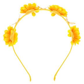 Summer Sunflower Headband - Yellow,