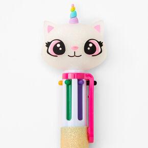 Glitter Caticorn Multicolored Pen - Pink,