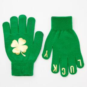 Lucky Shamrock Gloves - Gold,