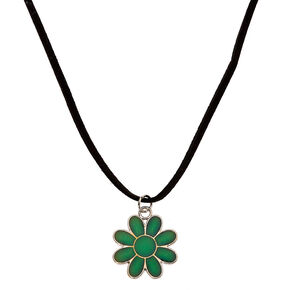 Mood Flower Pendant Necklace,