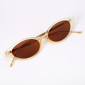 Slim Cat Eye Sunglasses - Amber,