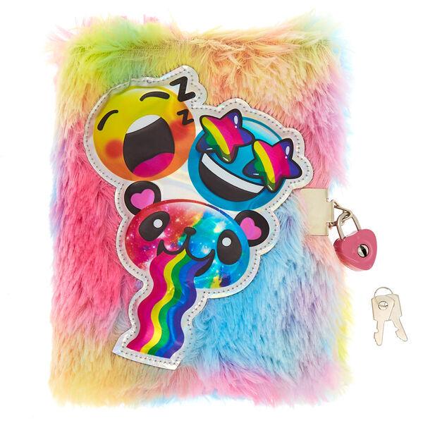 Claire's - emoji lock soft notebook - 1