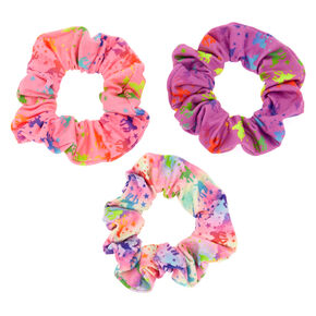 Small Rainbow Unicorn Stars Hair Scrunchies - 3 Pack,