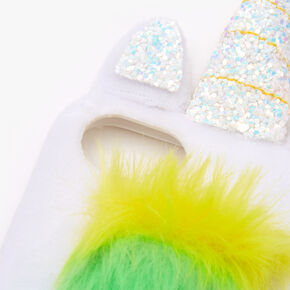 Furry Rainbow Unicorn Protective Phone Case - Fits iPhone 6/7/8/SE,