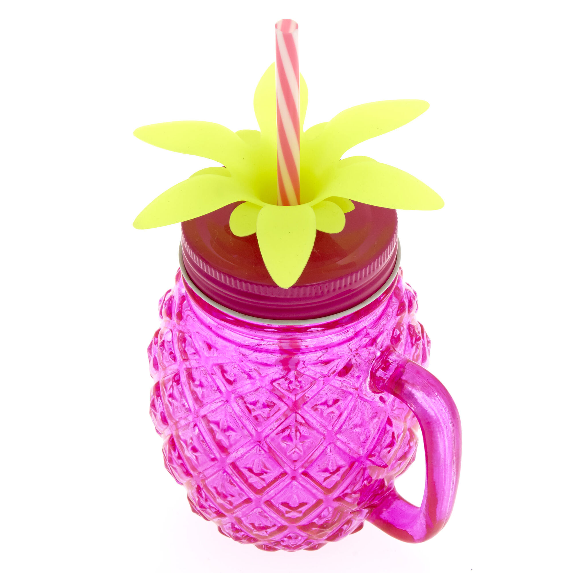 Pineapple Mason Jar Cup   Claire\'s US
