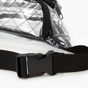 Clear Quilted Fanny Pack - Black,