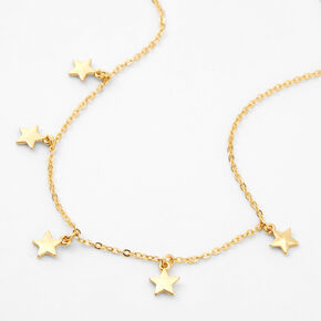 18kt Gold Plated Star Refined Charm Necklace,