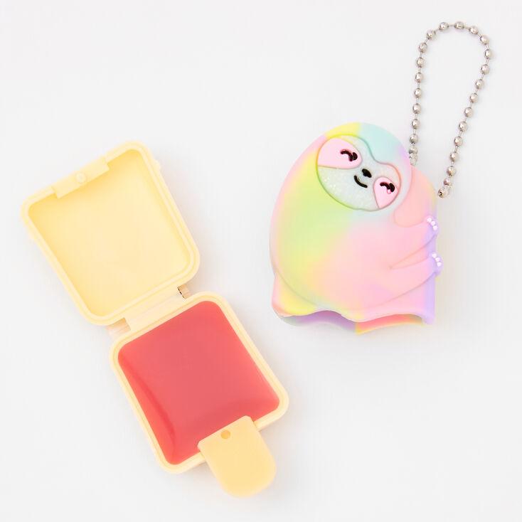 Pucker Pops® Rainbow Sloth Lip Gloss - Watermelon,