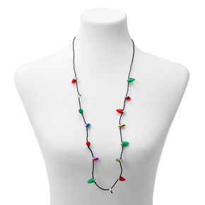 Light Up Bulb Christmas Necklace,