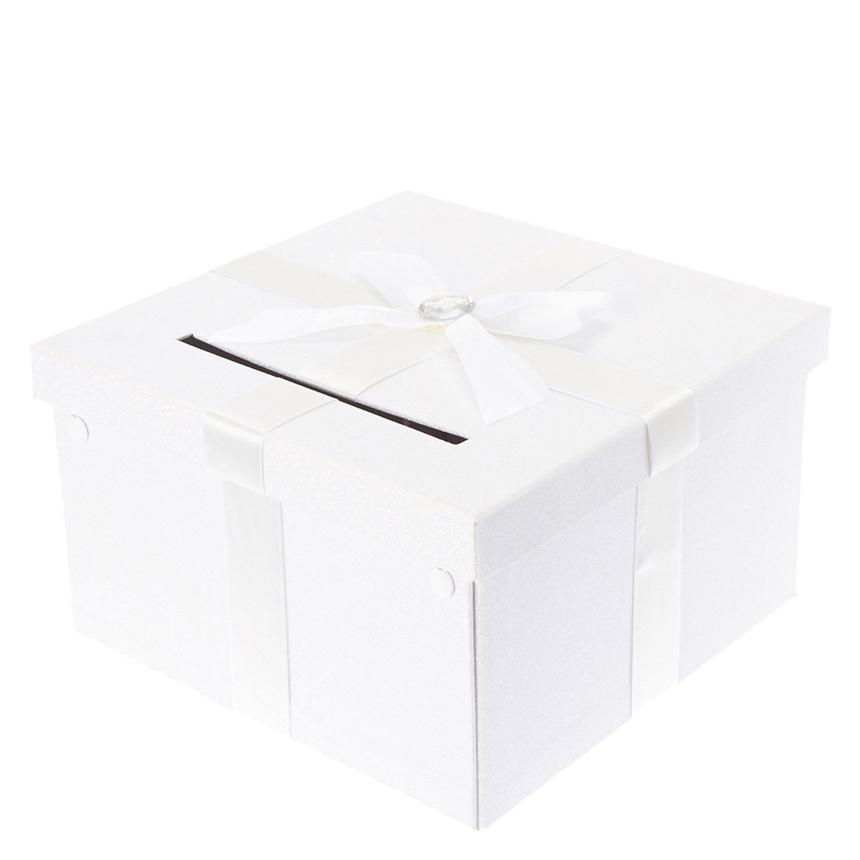 White Wedding Card Box Claires