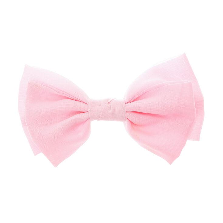 Large Pastel Hair Bow Clip - Pale Pink  d9c514e9445
