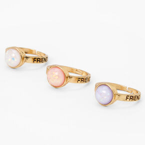 Best Friends Faux Pearl Rings - 3 Pack,