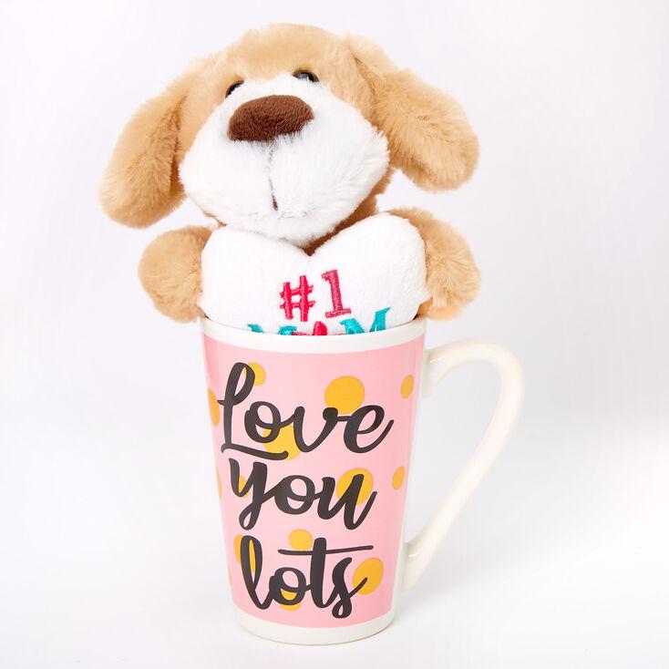 #1 Mom Plush Toy & Love You Lots Ceramic Mug Set - 2 Pack,