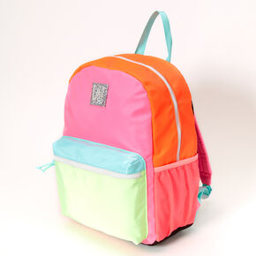 Neon Color Block Large Backpack,
