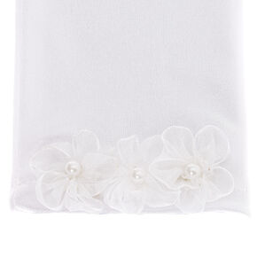 Claire's Club Satin Flower Girl Gloves - White,