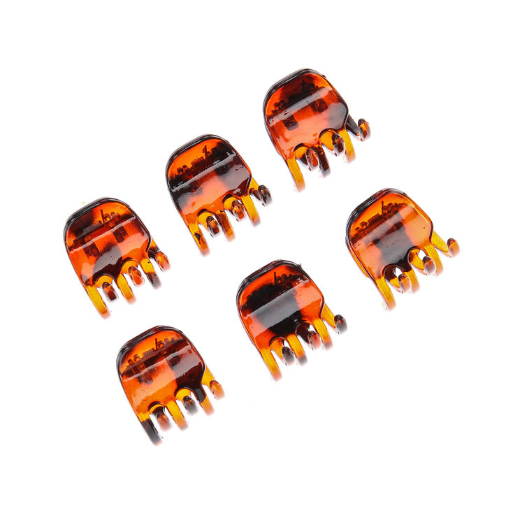 Mini Tortoise Shell Hair Claws - 6 Pack,