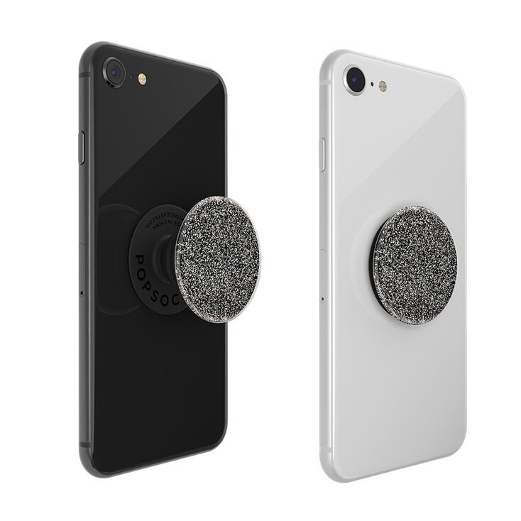 PopSockets Swappable PopGrip - Glitter Black,