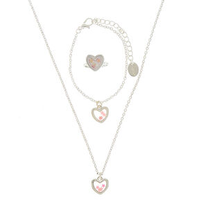 Claire's Club Heart Jewelry Set - 3 Pack,