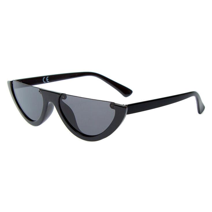 Rimless Top Sunglasses - Black,