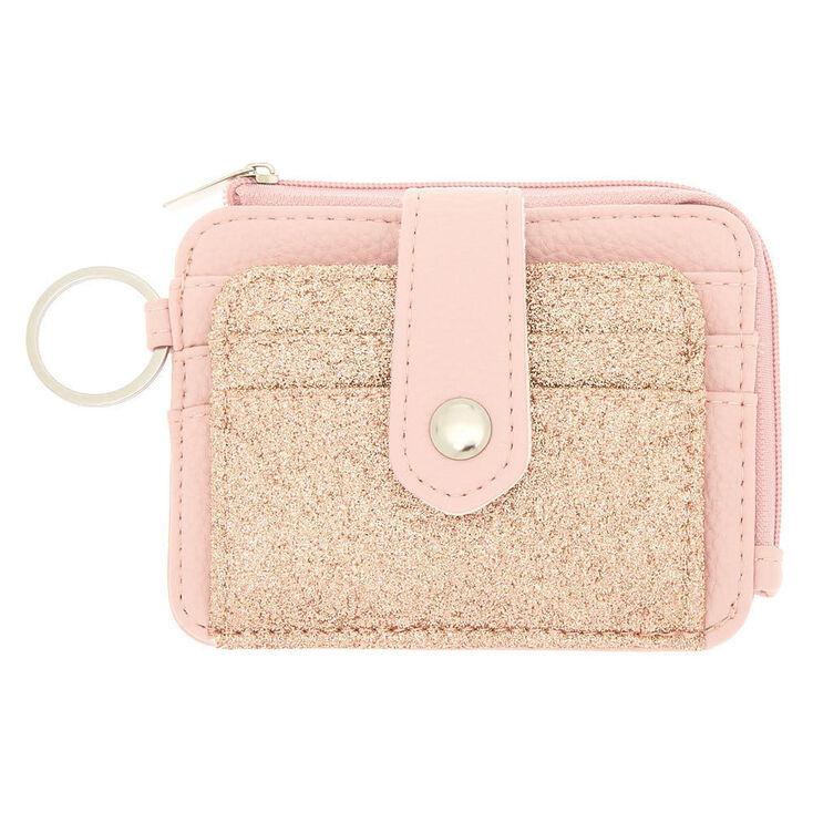 Glitter Coin Purse - Blush Pink,
