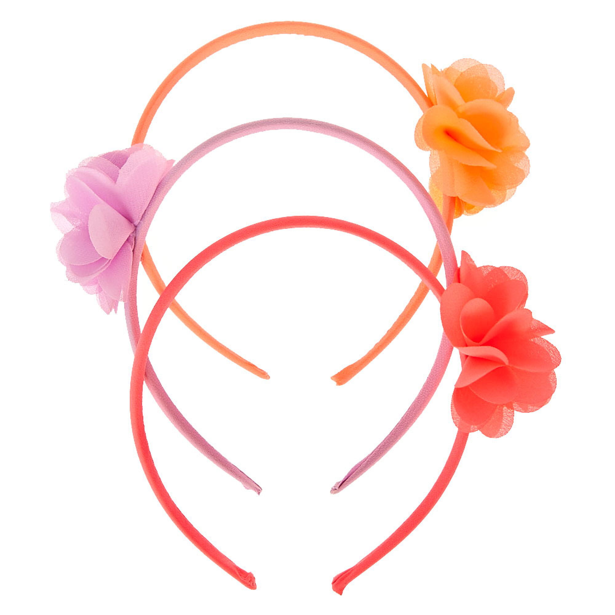 Kids Pink Purple Flower Headband 3 Pack Claires