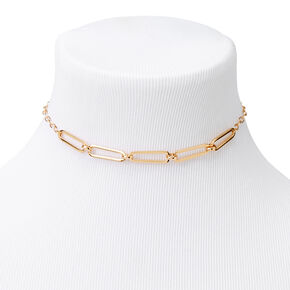 Gold Thin Chain Link Necklace,