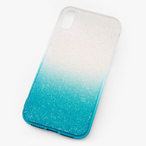 Turquoise Ombre Caviar Glitter Phone Case - Fits iPhone XR,