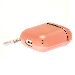 Étui pour écouteurs couleur doré rose métallisé - Compatible avec les Airpods de Apple,