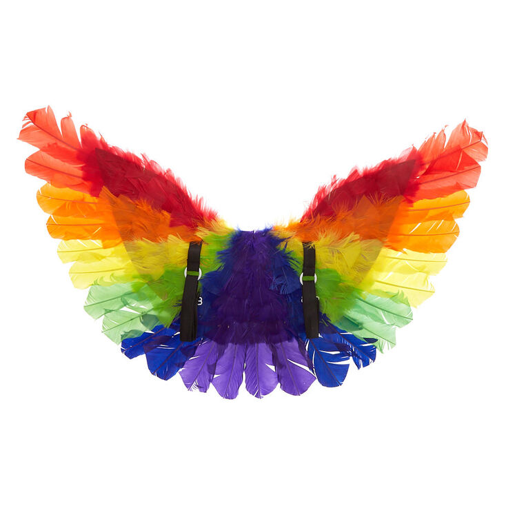 a2f7428b0 Rainbow Feather Wings   Claire's