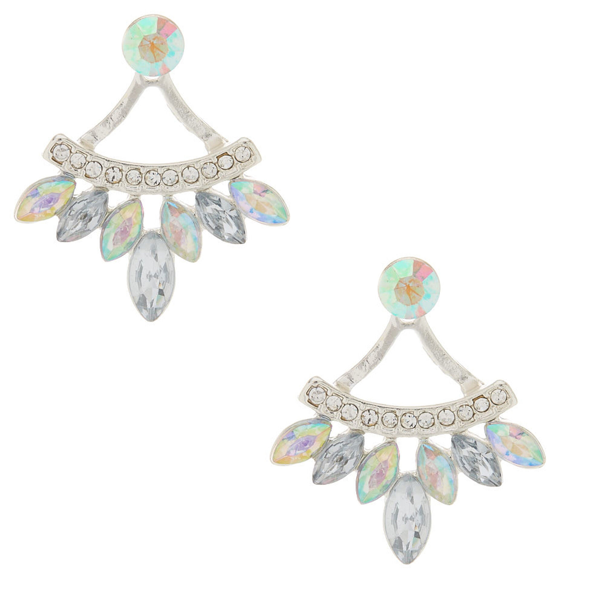 Iridescent Front Back Earrings