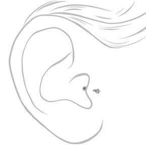 Clou d'oreille piercing tragus étoile 16g couleur argentée,