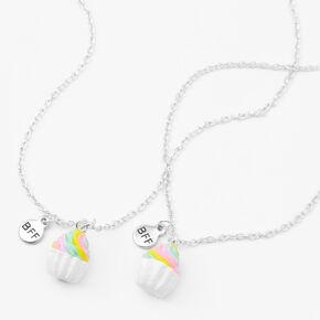 Best Friends Rainbow Cupcake Pendant Necklaces - 2 Pack,